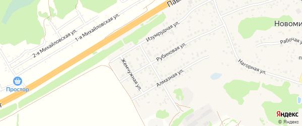 Бирюзовая улица на карте поселка Новомихайловки с номерами домов