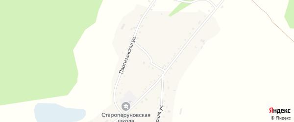 Школьный переулок на карте села Староперуново с номерами домов