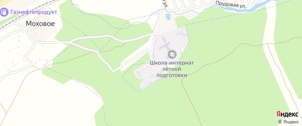 Санаторная улица на карте Лесного поселка с номерами домов