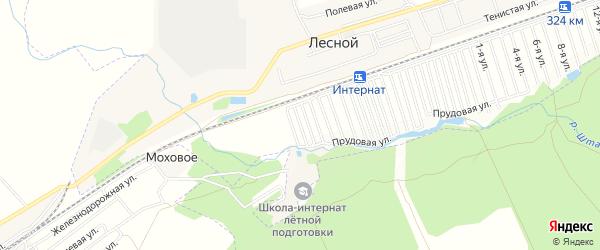 Карта садового некоммерческого товарищества Силикатчика города Барнаула в Алтайском крае с улицами и номерами домов