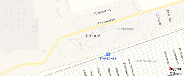 36-й переулок на карте Лесного поселка с номерами домов