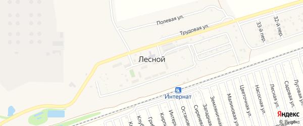 Рассветная улица на карте Лесного поселка с номерами домов
