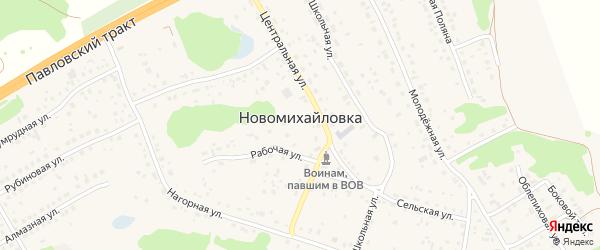 Тихая улица на карте поселка Новомихайловки с номерами домов