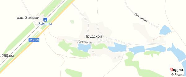 Карта Прудского поселка в Алтайском крае с улицами и номерами домов