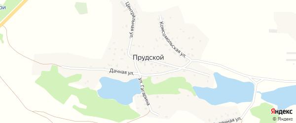 Комсомольская улица на карте Прудского поселка с номерами домов