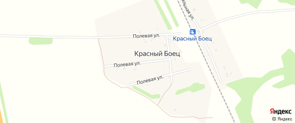 Полевая улица на карте станции Красного Бойца с номерами домов