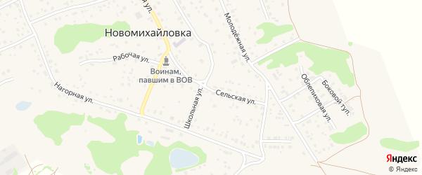 Сельская улица на карте поселка Новомихайловки с номерами домов