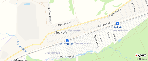 Карта садового некоммерческого товарищества Нефтяника города Барнаула в Алтайском крае с улицами и номерами домов