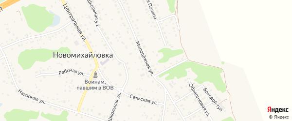 Молодежная улица на карте поселка Новомихайловки с номерами домов
