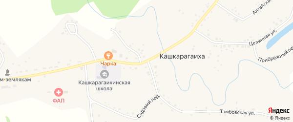 Улица 40 лет Победы на карте села Кашкарагаихи с номерами домов