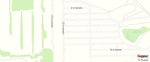 2-я линия на карте Михайловского садового некоммерческого товарищества с номерами домов