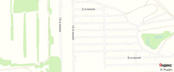 1-я линия на карте Михайловского садового некоммерческого товарищества с номерами домов