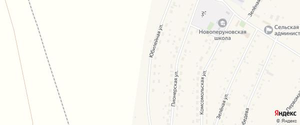 Юбилейная улица на карте села Новоперуново с номерами домов