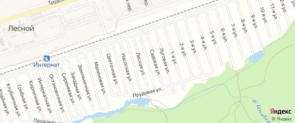 Ягодная улица на карте садового некоммерческого товарищества Текстильщика с номерами домов