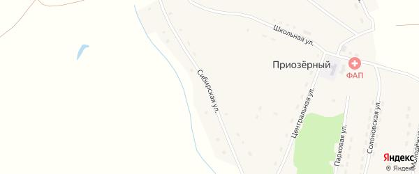 Сибирская улица на карте Приозерного поселка с номерами домов