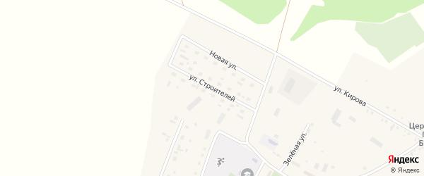 Улица Строителей на карте села Новоперуново с номерами домов