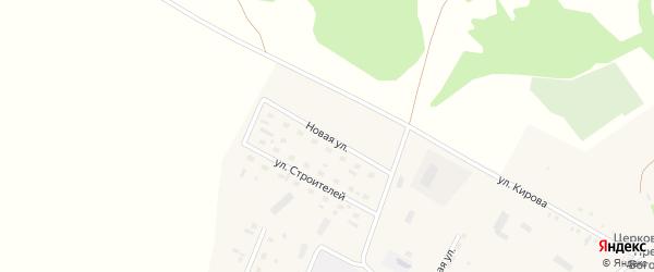 Новая улица на карте села Новоперуново с номерами домов