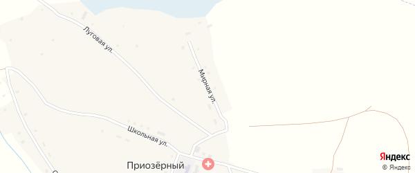 Мирная улица на карте Приозерного поселка с номерами домов