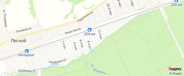 Карта садового некоммерческого товарищества Трансмашевца города Барнаула в Алтайском крае с улицами и номерами домов