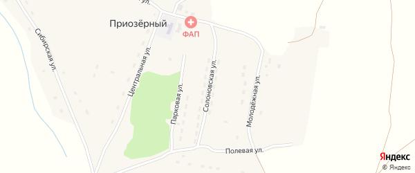 Солоновская улица на карте Приозерного поселка с номерами домов