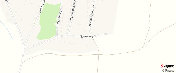 Полевая улица на карте Приозерного поселка с номерами домов