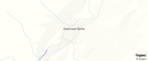 Карта села Красные Орлы в Алтайском крае с улицами и номерами домов