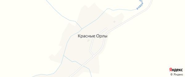Полевой переулок на карте села Красные Орлы с номерами домов