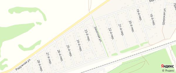 23-й переулок на карте Лесного поселка с номерами домов