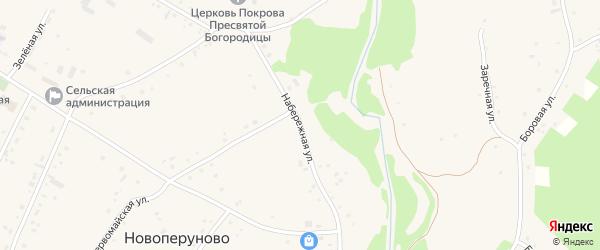 Набережная улица на карте села Новоперуново с номерами домов