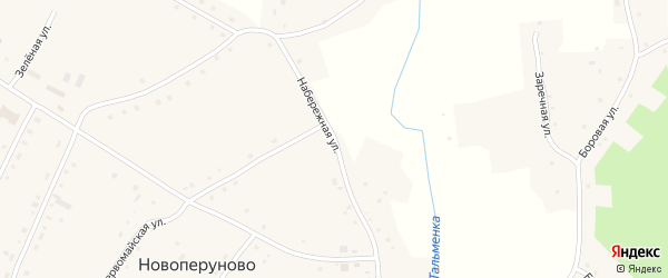 Набережная улица на карте села Шипицино с номерами домов