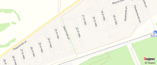 22-й переулок на карте Лесного поселка с номерами домов