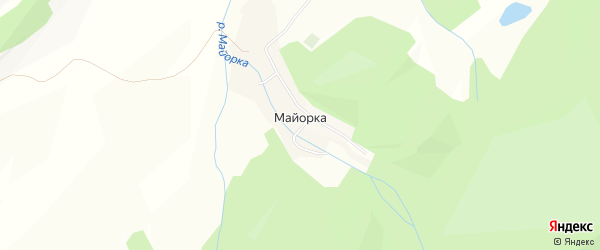 Карта села Майорки в Алтайском крае с улицами и номерами домов