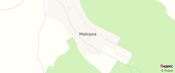 Центральная улица на карте села Майорки с номерами домов
