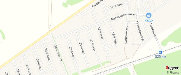 20-й переулок на карте Лесного поселка с номерами домов