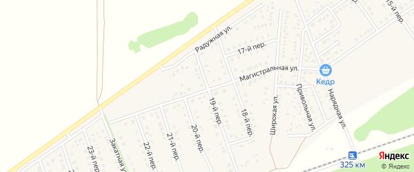 19-й переулок на карте Лесного поселка с номерами домов