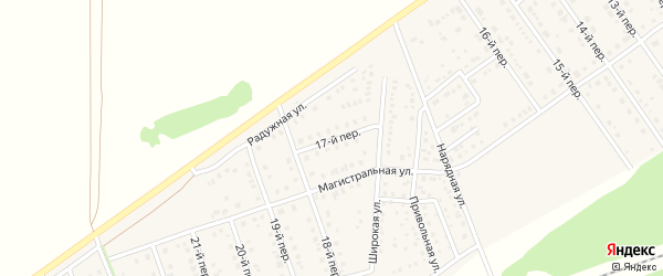 17-й переулок на карте Лесного поселка с номерами домов