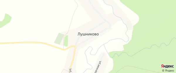 Карта села Лушниково в Алтайском крае с улицами и номерами домов