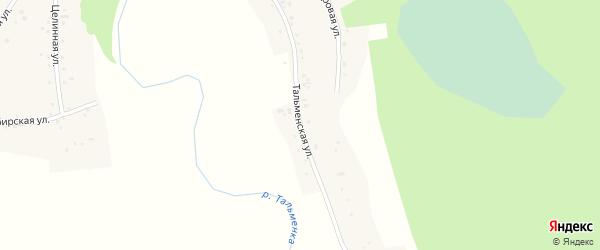 Тальменская улица на карте села Новоперуново с номерами домов
