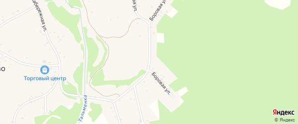 Боровая улица на карте села Новоперуново с номерами домов