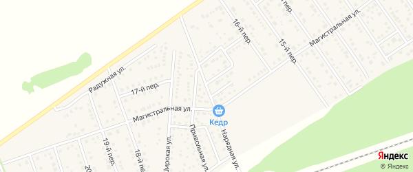 Нарядная улица на карте Лесного поселка с номерами домов