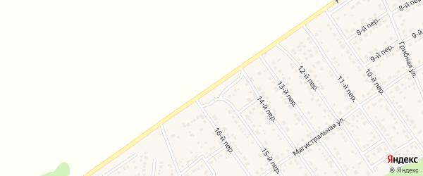 Радужная улица на карте территории сдт Барнаульского с номерами домов