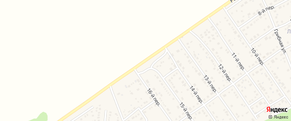 Радужная улица на карте Лесного поселка с номерами домов