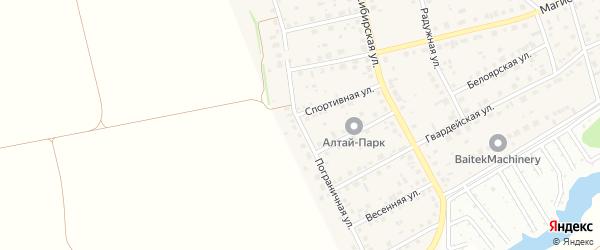 Пограничная улица на карте поселка Научного Городка с номерами домов
