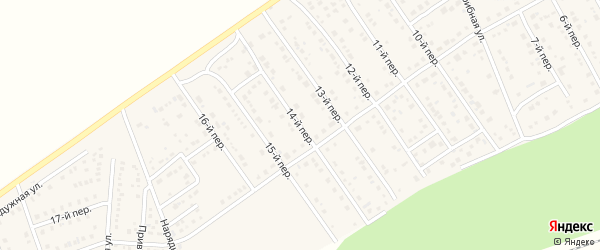 14-й переулок на карте Лесного поселка с номерами домов