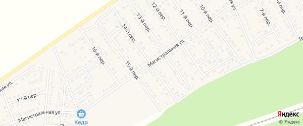 Магистральная улица на карте Лесного поселка с номерами домов