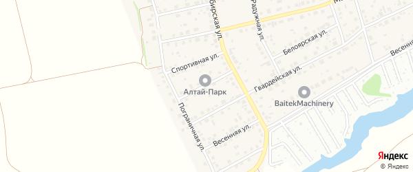 Веселая улица на карте поселка Научного Городка с номерами домов
