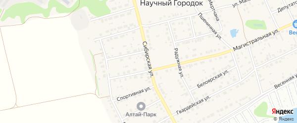 Сибирская улица на карте поселка Научного Городка с номерами домов