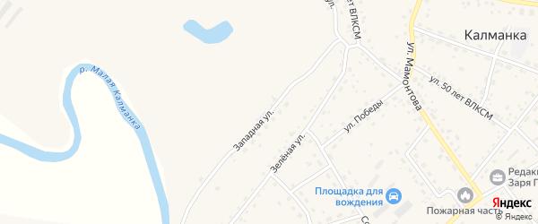 Западная улица на карте села Калманки с номерами домов