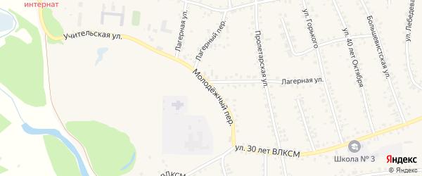 Молодежный переулок на карте поселка Тальменки с номерами домов