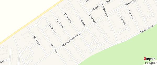 12-й переулок на карте Лесного поселка с номерами домов